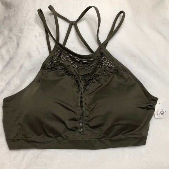 2083506e3f NWOT Crossover Sport Bralette Army Green 1X. NWT. Cato
